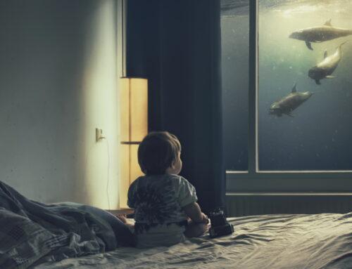 Maritimes Flair: Aquarium im Schlafzimmer